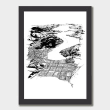 Load image into Gallery viewer, Dunedin Art Print Black Classic Frame