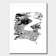Load image into Gallery viewer, Dunedin Art Print White Classic Frame