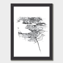 Load image into Gallery viewer, Wanaka Art Print Black Classic Frame