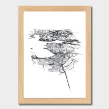 Load image into Gallery viewer, Wanaka Art Print Natural Classic Frame