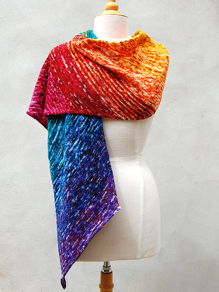 Annalise Wrap in Knitted Wit Yarn