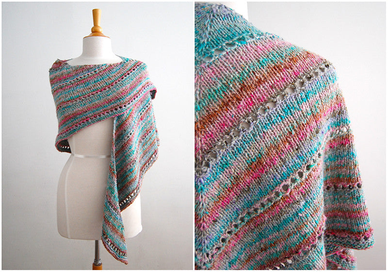 Age of Brass and Steam Shawl in Noro Mirai Yarn