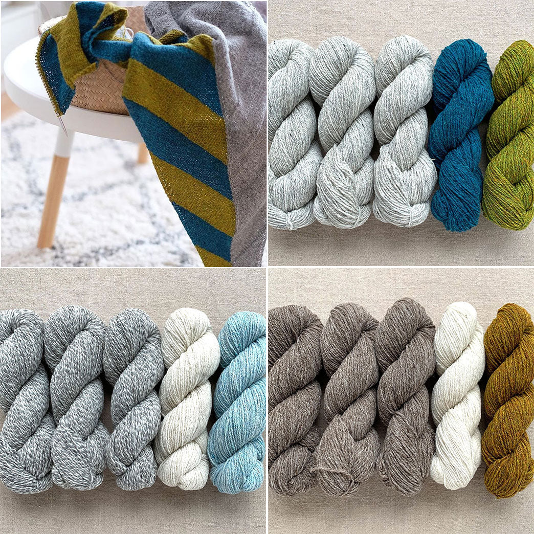 Half Stripe Shawl Color Combinations