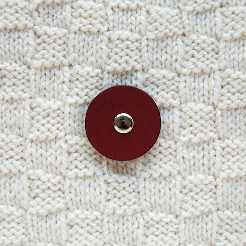 Jul Chestnut Medium Pedestal Button