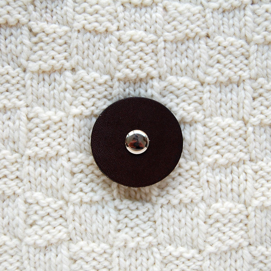 Jul Chocolate Medium Pedestal Button