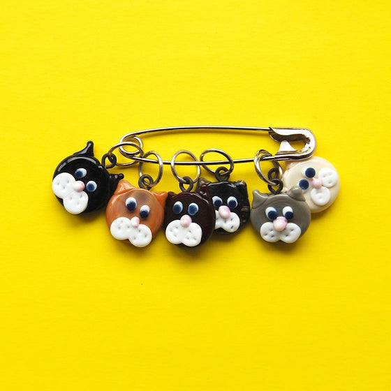 cat stitch markers