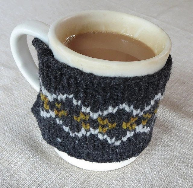 Steeked Coffee Cozy