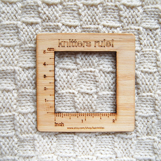 Knitter's Rule Gauge Ruler