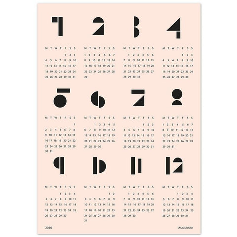 Snug.Studio : Toy Blocks Wall Calendar