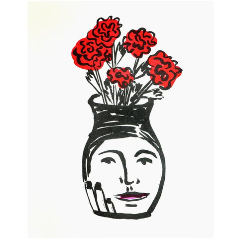 People I've Loved : Lady Vase Print