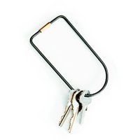 Areaware : Black Contour Key Ring