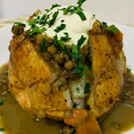 Baked Potato with Puy Lentil Cassoulet