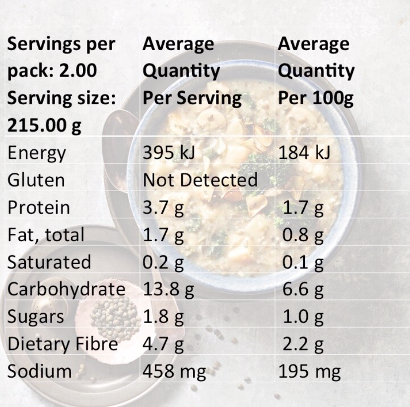 Load image into Gallery viewer, Veglicious Nutritional Information