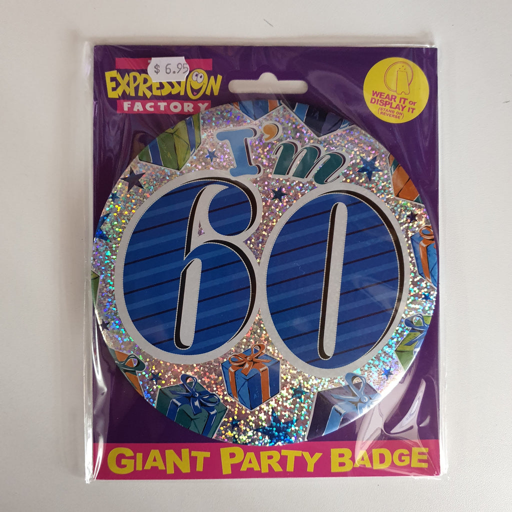GIANT PARTY BADGE