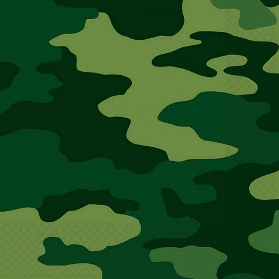 CAMOUFLAGE LUNCHEON NAPKINS