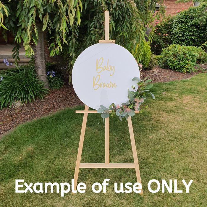 """KYLIE"" WOODEN EASEL WITH SIGNAGE"