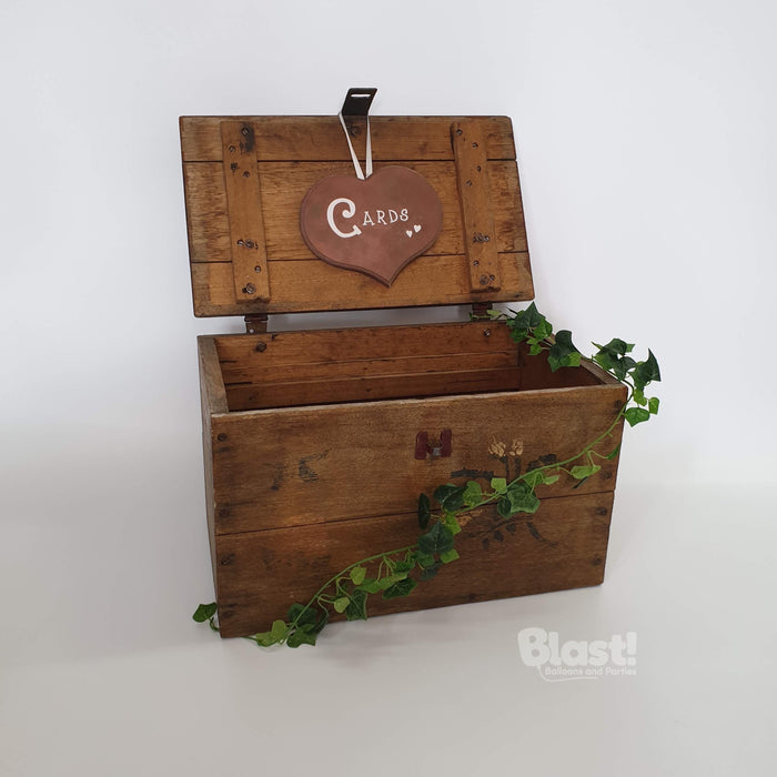 WOODEN CARD BOX / WISHING WELL
