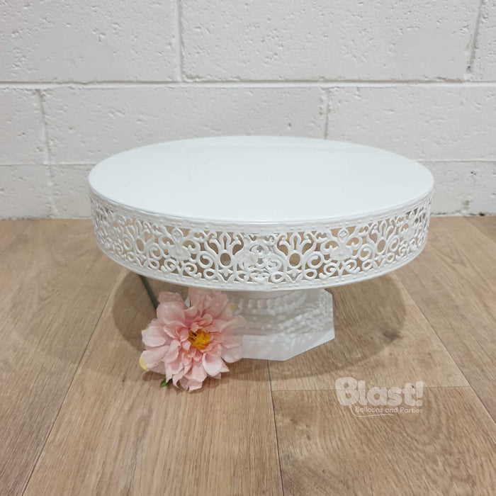 """VICTORIA"" FOOTED CAKE STAND - WHITE"