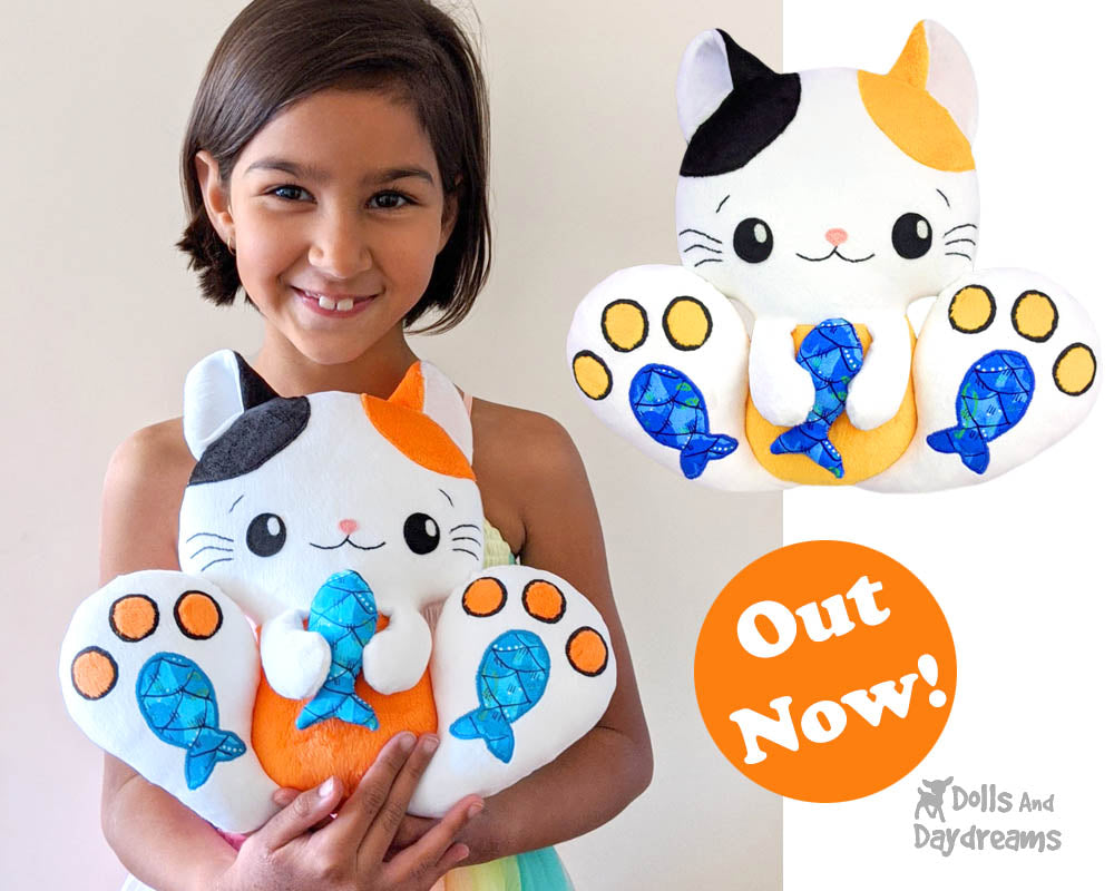 NEW BFF Kitty Cats Sewing and Machine Embroidery Patterns are here!