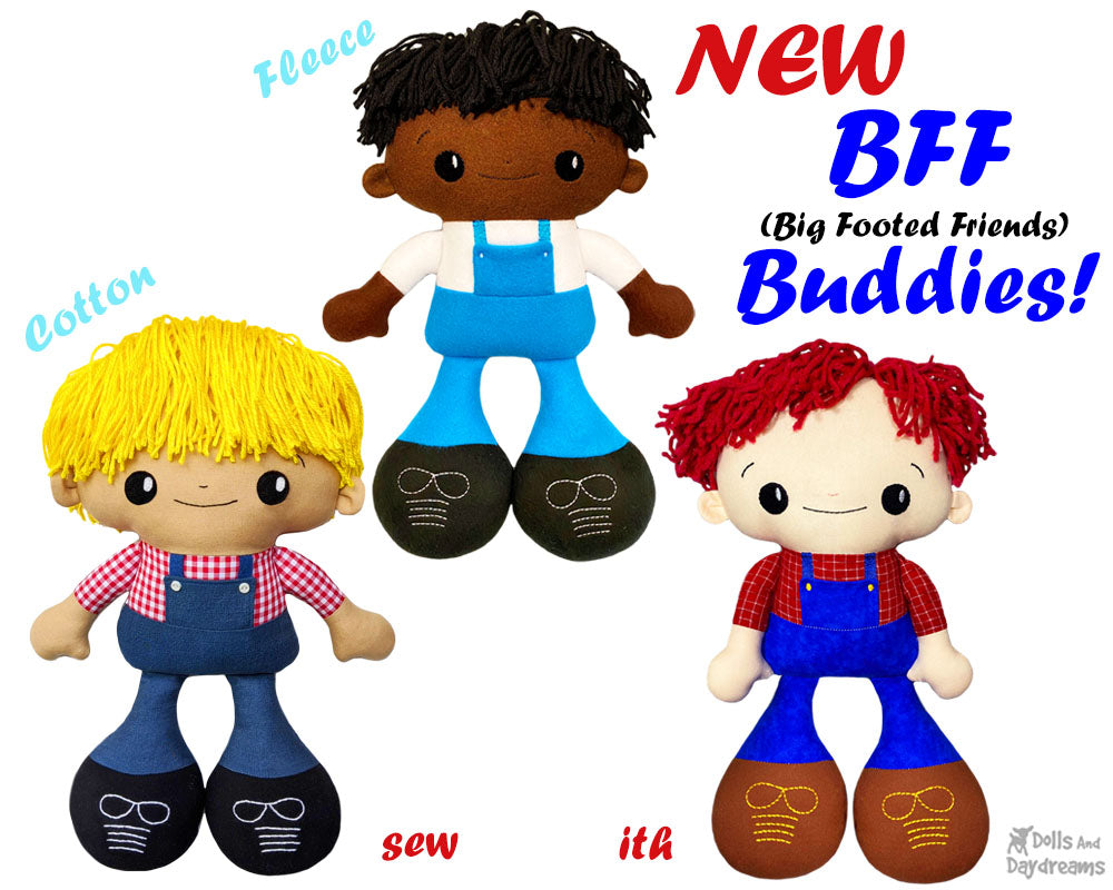 NEW BFF Buddies Boy Doll Sewing and Machine Embroidery Pattern Out Now!
