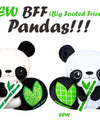 NEW BFF Panda Sewing and Machine Embroidery Pattern is Here!