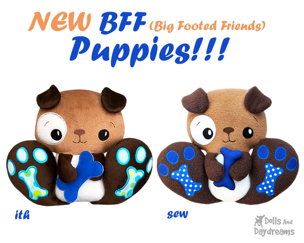 NEW BFF Puppy Dog Sewing & ITH Patterns are here!