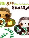 NEW BFF Sloth Sewing and Machine Embroidery Pattern