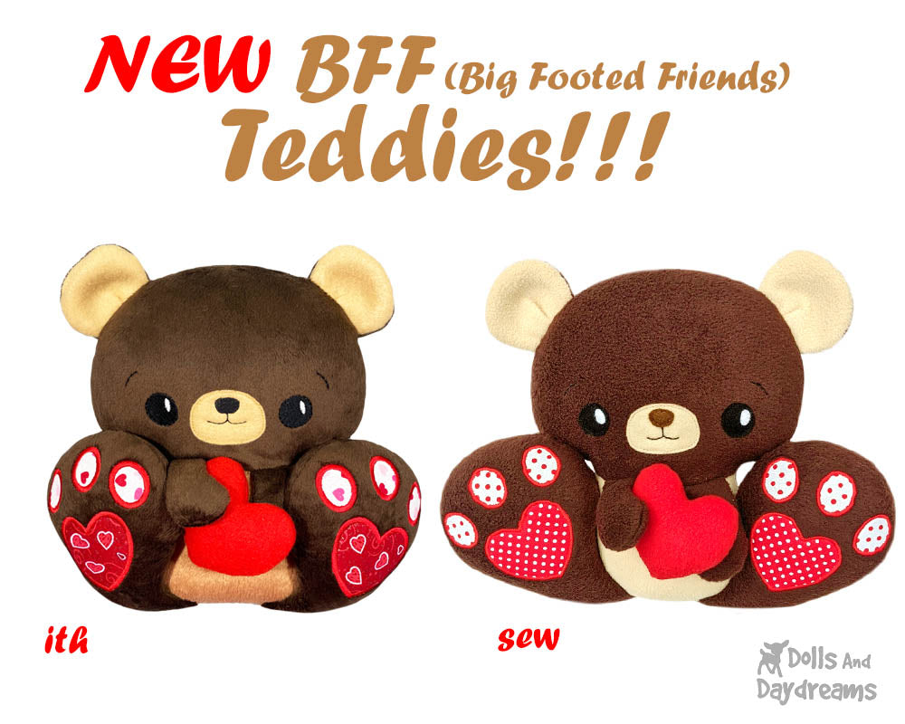 NEW BFF (Big Footed Friends) Teddy Bears are here!