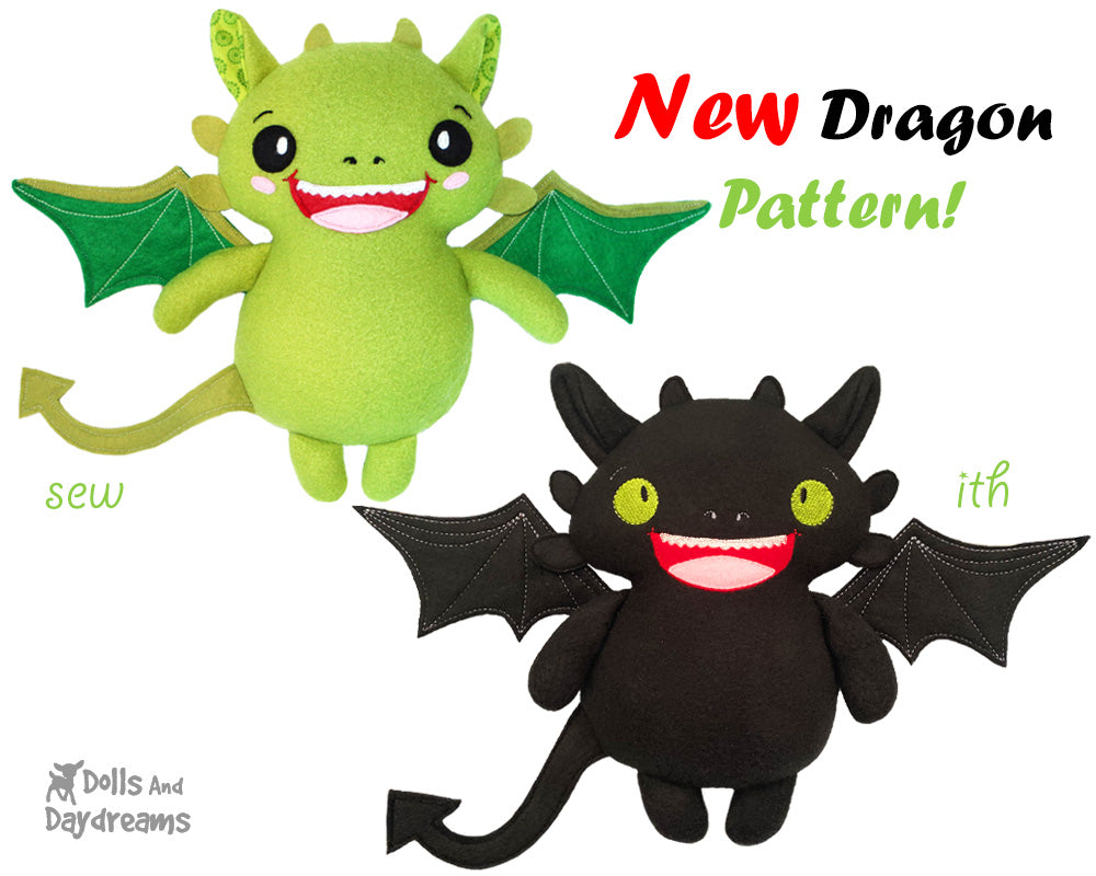 NEW Dragon Sewing and In The Hoop Pattern OUT Today!
