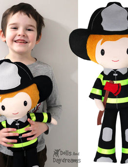 NEW Firefighter Machine Embroidery and Sewing Patterns are Here!