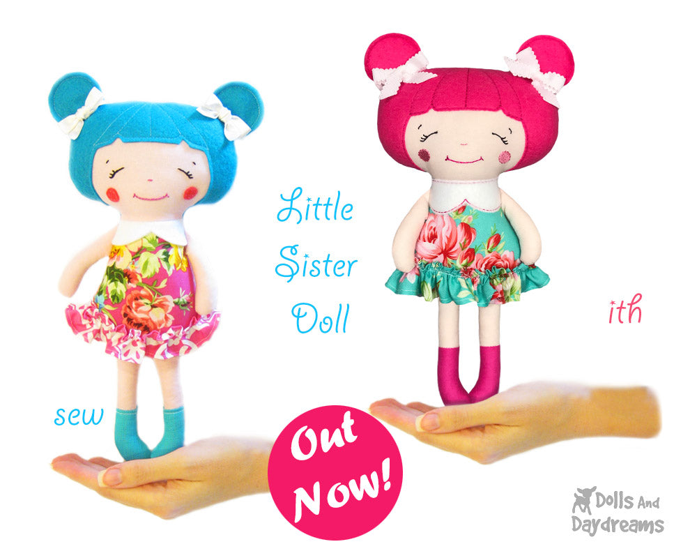 Little Sister Doll In The Hoop Pattern & Sewing Pattern