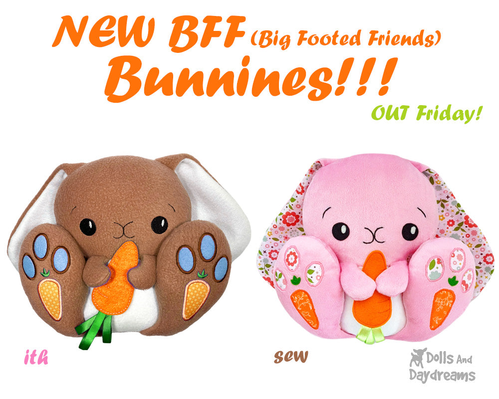 Meet the NEW BFF (Big Footed Friends) Bunny Rabbit Pattern!