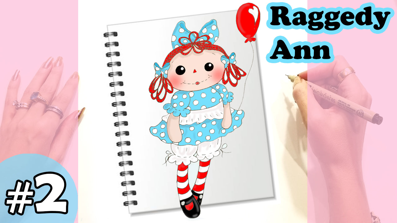 Raggedy Ann Doll Design Sketch