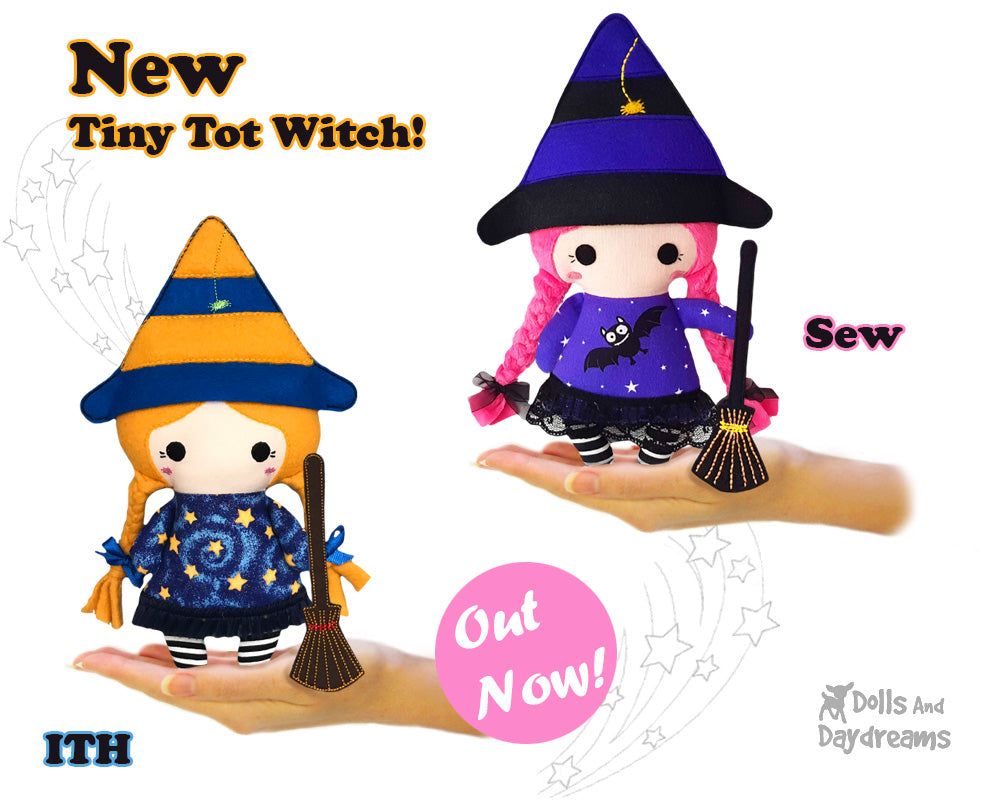 NEW Tiny Tot Witch Doll Pattern OUT Now!