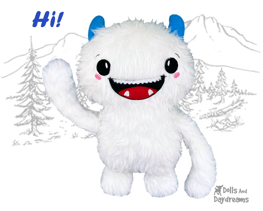 NEW Happy Yeti In The Hoop and PDF Sewing Patterns are here