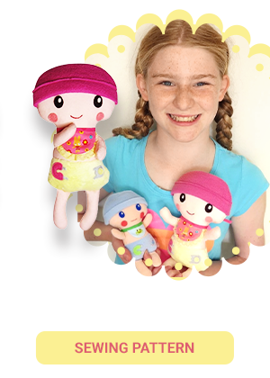 Baby cloth doll pdf sewing pattern by dolls and daydreams