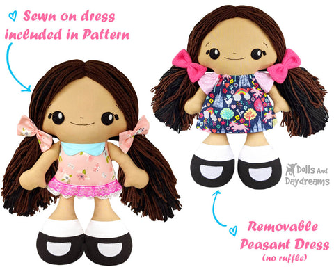 Dress your dolly up with these easy doll clothes sewing patterns
