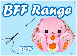 BFF Big Footed Friends Cute Plush Sewing Pattern Toy Range by Dolls And Daydreams