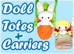 Doll and Plush Toy Totes and Kids Carriers by Dolls And Daydreams