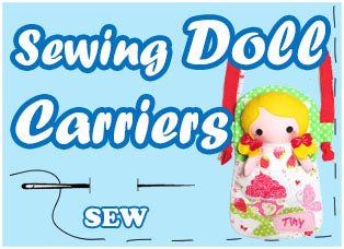 Doll Carrier Travel Tote Sewing patterns by dolls and daydreams