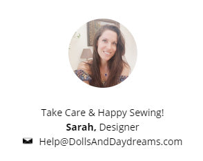 Sarah Hanson designer at Dolls And Daydreams