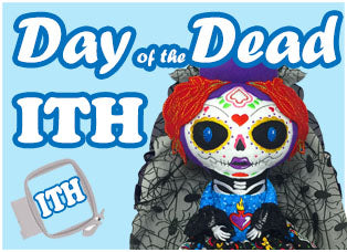 Day of The Dead Soft Toy and Doll Machine Embroidery In The Hoop Patterns by Dolls And Daydreams