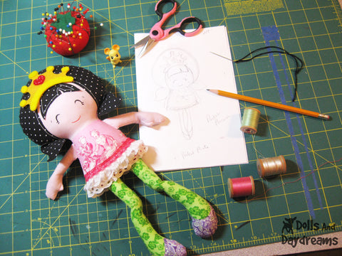doll pattern maker from sketch to finished doll by dolls and daydreams