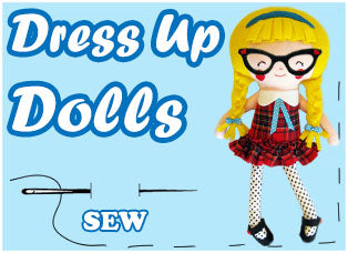 Dress Up Doll Patterns by Dolls And Daydreams