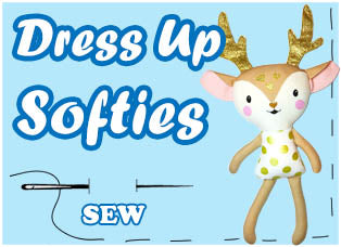 Dress Up Soft Toy Plushie Sewing Patterns by dolls and daydreams