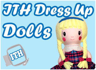 In The Hoop Machine Embroidery Dress Up Doll Patterns