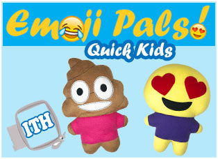 Emoji Pals Quick Kids Machine Embroidery Kawaii Patterns