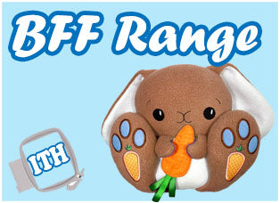 BFF Big Footed Friends Machine Embroidery Cute Plush Toy Range by Dolls And Daydreams