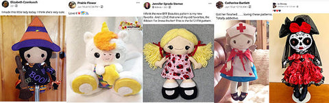Customers love making dolls and daydreams patterns