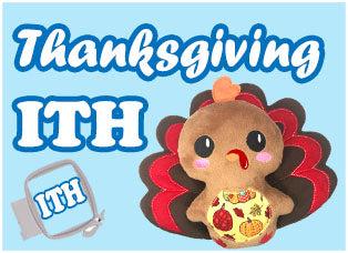 Thanksgiving Fall Soft Toy and Doll Machine Embroidery In The Hoop Patterns by Dolls And Daydreams